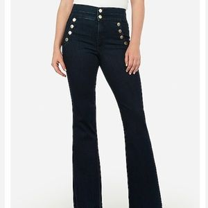 Express High Waisted Bell Flare Denim pants